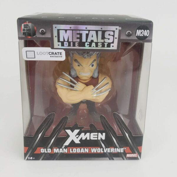 RARE NEW Metals Die Cast X Men Old Man Logan Wolverine Loot Crate Exclusive