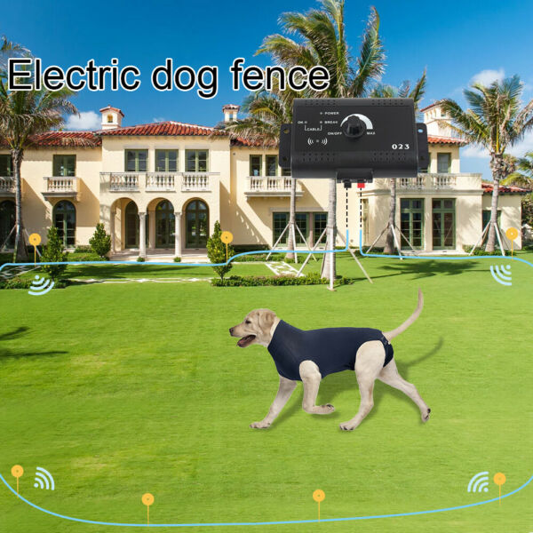 Underground Electric Dog Fence System Waterproof Shock Collars For Pet US New