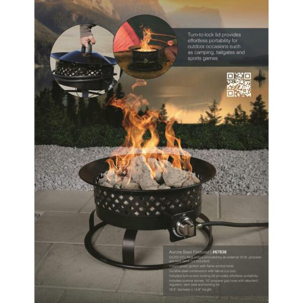 Bond Manufacturing Aurora Steel Gas Fire Pit