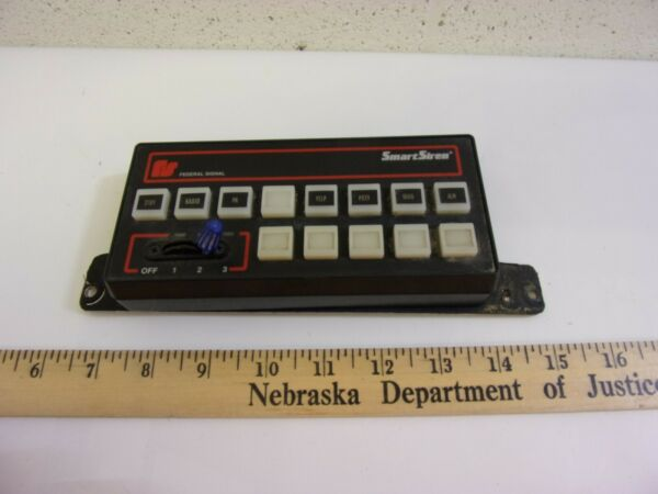 Vintage Federal Signal Smart Siren Light Bar Console Controller Key pad