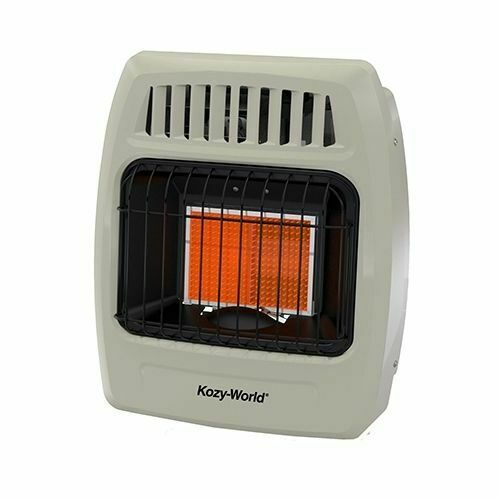 BTU Plaque Infrared Propane Gas Wall Heater Kozy World 12000