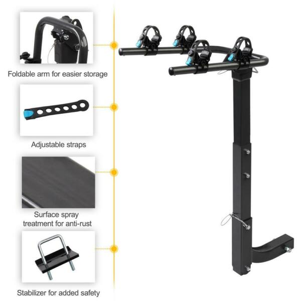 Premium 2 Bike Carrier Rack Hitch Mount Swing Down Bicycle Rack W 2quot; Receiver $62.69