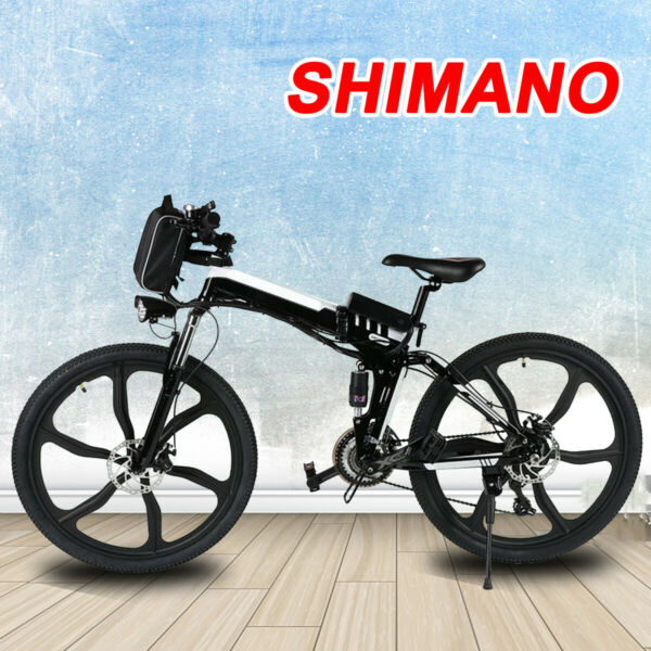 VIVI 26#x27;#x27; Folding Electric Bike Mountain Bicycle Adult City Ebike 21Speed 350W** $589.99