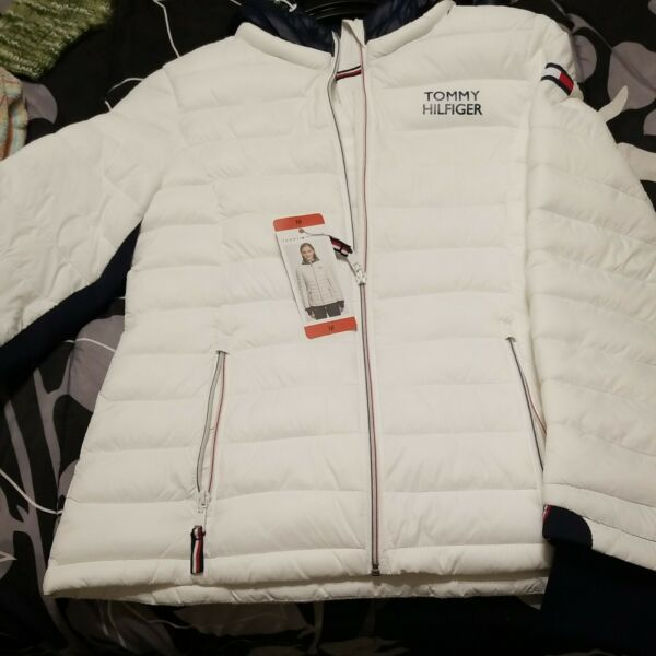 TOMMY HILFIGER Ladies Hooded Jacket Women#x27;s Puffer Coat New S $34.99