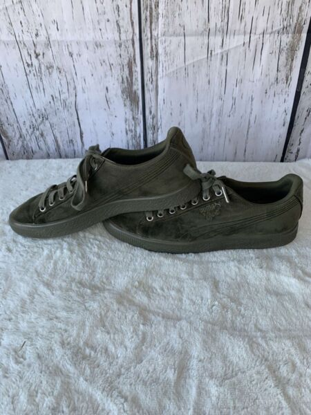 Puma Clyde Sz 9 Velour Ice Shoes Green Classic Sneaker#x27;s 366549 03 $15.00