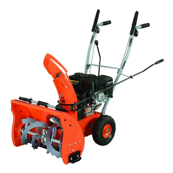 2 Stage Gas Snow Blower Recoil Start Wheel Drive Heavy Snow Flat Terrain 22quot;