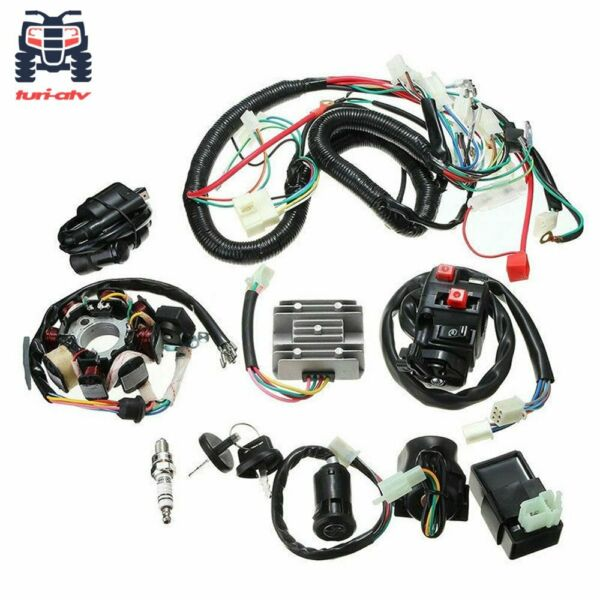 ATV QUAD 150CC 200CC 250CC Electric Wiring Harness Wire Loom CDI Stator Kit $49.95