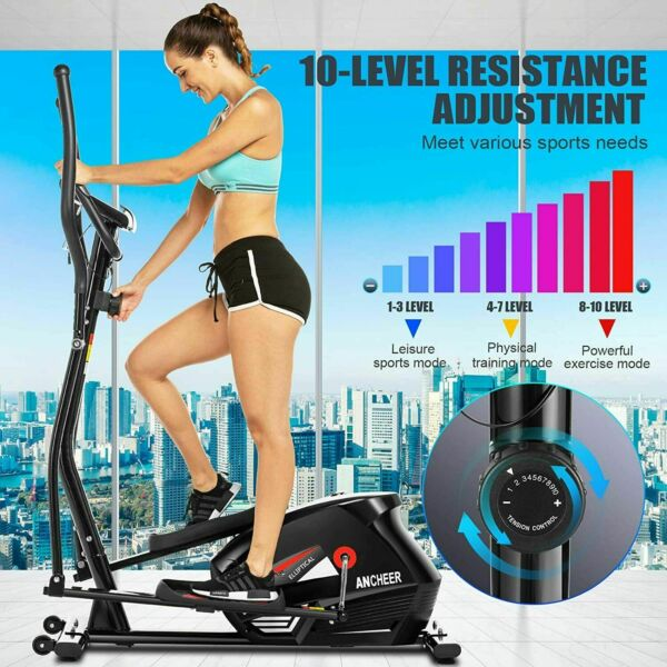 ANCHEER Magnetic Eliptical Machine Home Exercise Trainer Fitness WithLCD Display $159.99