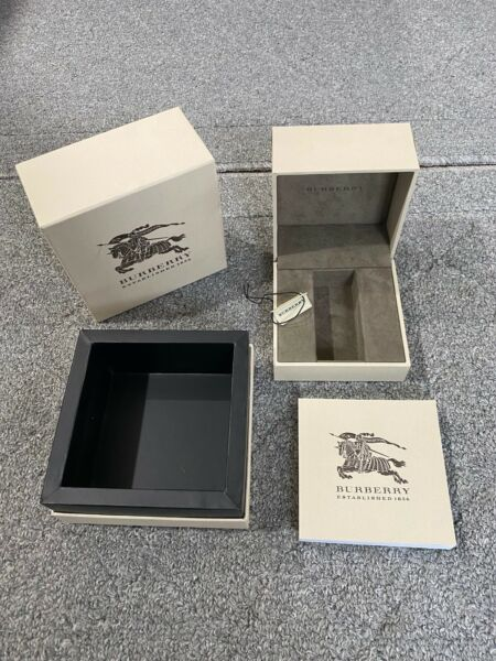 BURBERRY Original Package Display Collector Box amp; Manual NEW Authentic $20.00