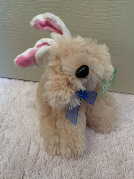 Fluffy Dog With Bunny Ears Easter $5.00