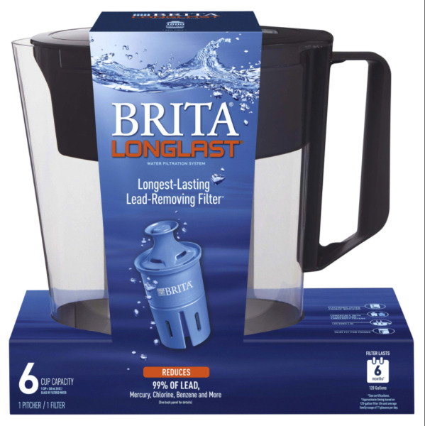 Brita Longlast 6 Cup Pitcher Lead Removing Filter BPA Free