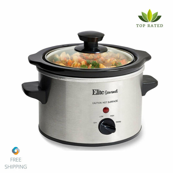 Small Slow Cooker Stainless Steel Crock Pot Mini Kitchen Portable Dishwasher