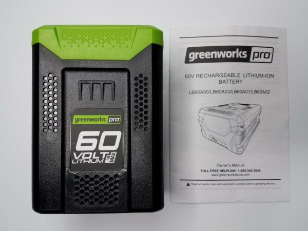 NEW GreenWorks Pro 60 Volt 60V 2.0Ah Lithium Ion Battery LB60A00 NEW Tested