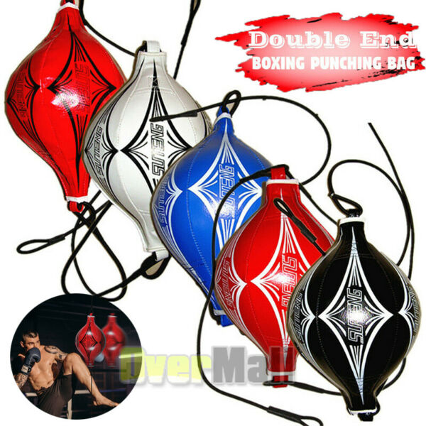 Leather Double End Dodge Speed Ball Boxing Floor To Ceiling Punching Bag MMA $20.67