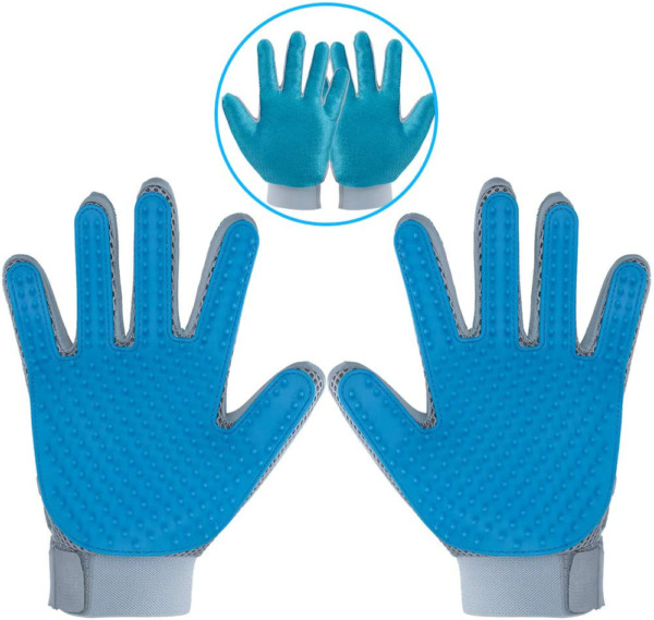 DELOMO Pet Hair Remover Gloves for Furniture Pet Grooming Gloves Hair Removal f $18.83