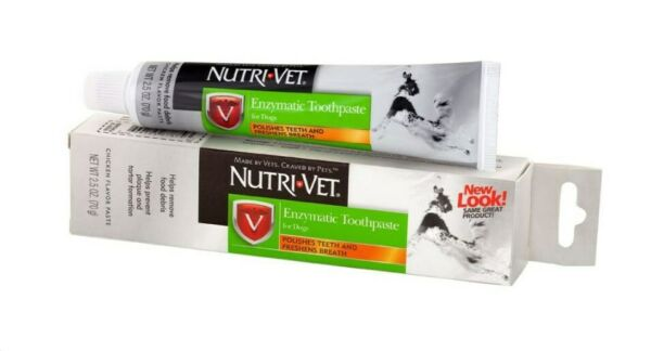 ENZYMATIC CHICKEN FLAVORED Canine Toothpaste Dog Teeth Care NUTRI VET 2.5 Ounce $5.92