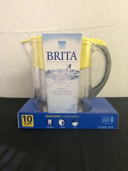 Brita Water Filtration Pitcher Yellow Capacity 10 Cup 1 Pitcher 1 Filter incl