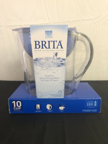 Brita Pacifica 10 Cup Water Filter Pitcher with Filter Blue New sealed