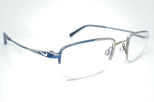 Nike with Flexon Bridge 4233 400 Blue Silver Eyeglasses Frame Glasses L2 04
