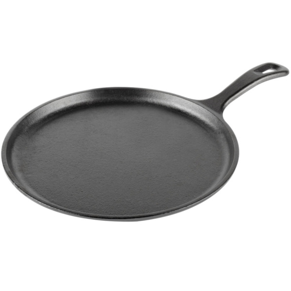 Lodge 10.5 Inch Black Cast Iron Griddle with Easy Grip Handle Model L9OG3