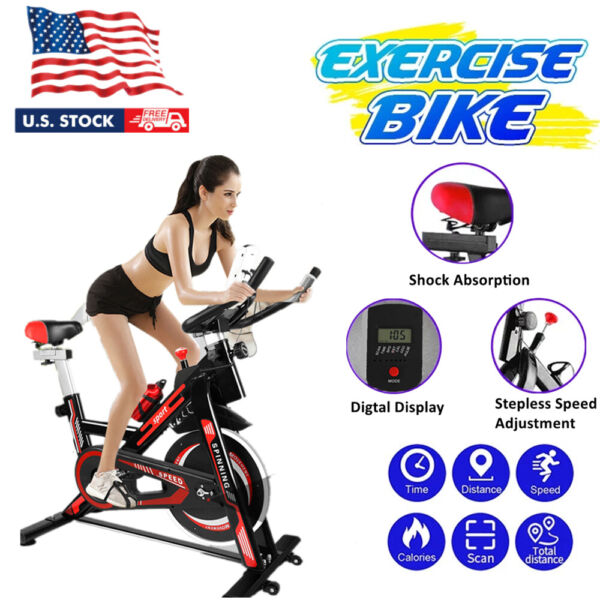 New Exercise Stationary Bike Cardio Cycling Fitness Home Indoor Workout Training $185.99