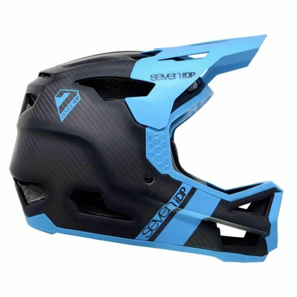 New 7iDP Project 23 Carbon Full Face Helmet Raw Carbon Gloss Electric Blue XXL C $449.99