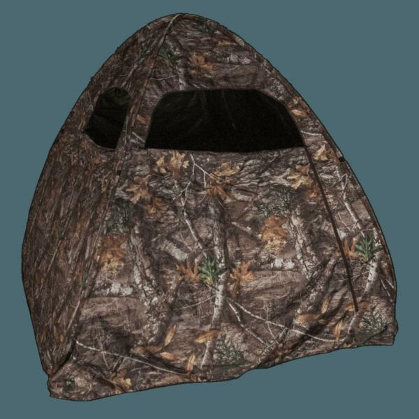 Edge Camouflage Pop Up Hunting Blind Realtree Deer Turkey Portable Ground 1 Man