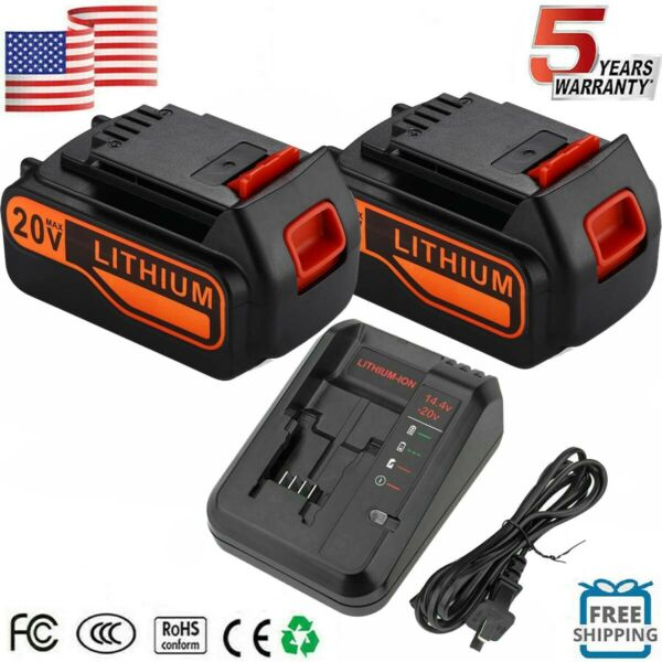 7.0Ah for Black amp; Decker LBXR20 20V Lithium Battery Charger LB2X4020 LBXR20 OPE