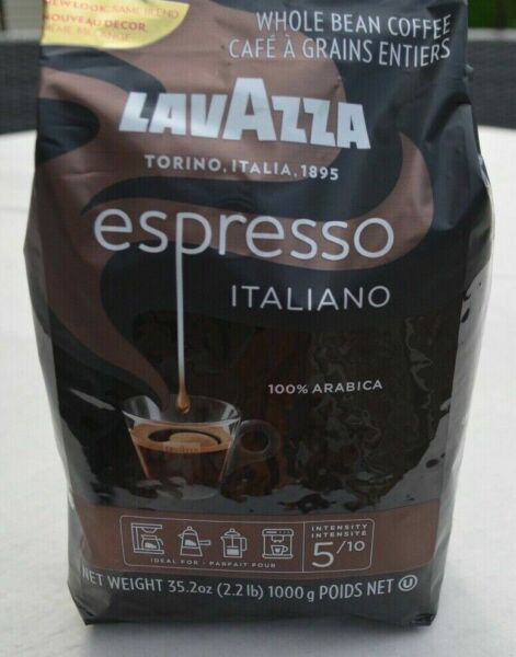 LavAzza Whole Bean Coffee Espresso Torino Italiano 100%Arabica 35.2 oz 2.2lb New
