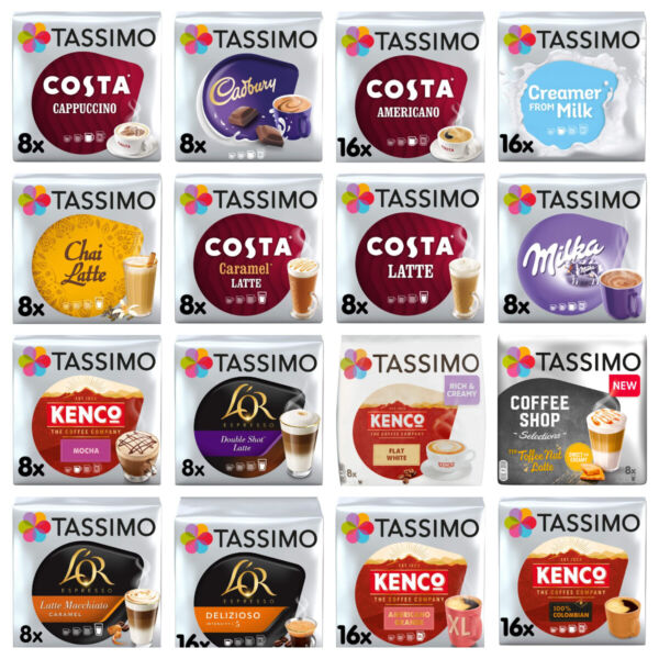 TASSIMO T DISCS COFFEE PODS BUY 3 PACKS amp; GET FREE UK POST Latte Cadbury