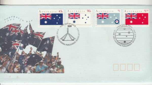 1991 Australia Day set of 4 stamps on First Day Cover. Cost $3.83. Going Cheap AU $1.49