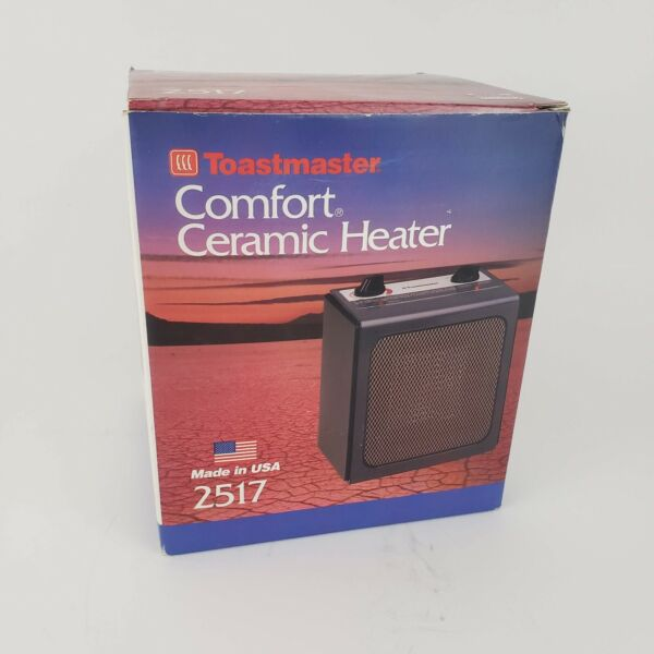 NEW Vintage Toastmaster Ceramic Instant Heat Electric Heater Model 2517 $59.95