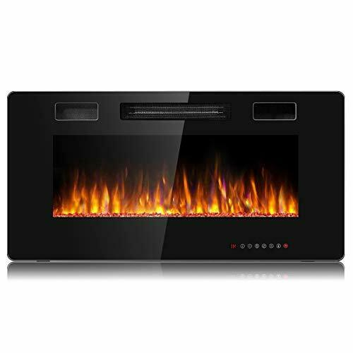 Tangkula 36 Inches Recessed Electric Fireplace in Wall amp; Wall Mounted Electric