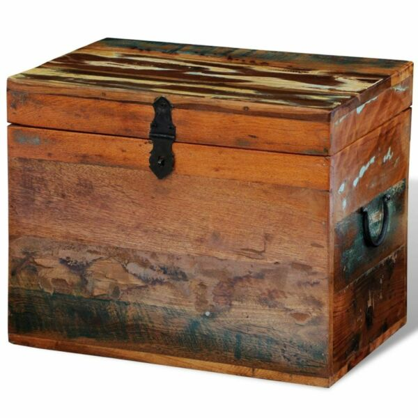 Solid Wood Reclaimed Storage Box Chest Organizer Trunk Indoor Stand Boxs $90.95