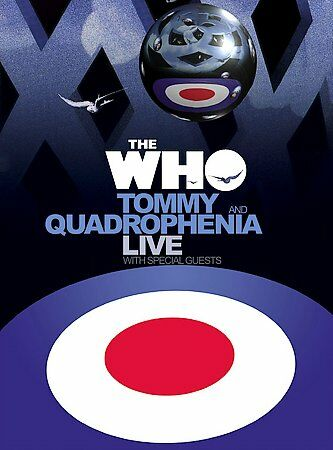 The Who Tommy and Quadrophenia Live with Friends DVD 2005 3 Disc Set $7.95