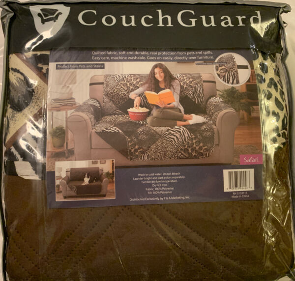 Couch Guard Safari Reversible Furniture Protector Pet amp; Stain 75x88quot; Love Seat $23.00