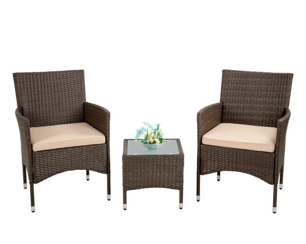 Patio Furniture Sets 3 Pieces Wicker Bistro Set Outdoor Patio Set Rattan Chair $130.99