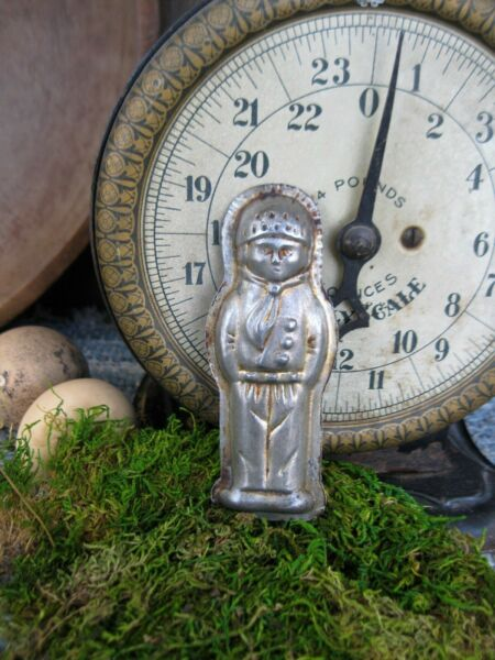 Small Antique One Piece Chocolate Mold Little Boy