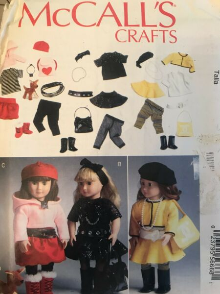 McCall#x27;s MP327 Clothes For 18quot; Dolls Uncut w Dog Pattern Wardrobe $6.00