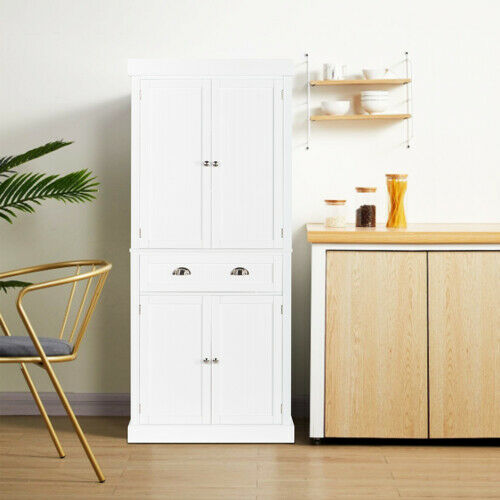 Modern 2 Door Armoire Wardrobe Cabinet Bedroom Storage Organizer Kitchen Pantry