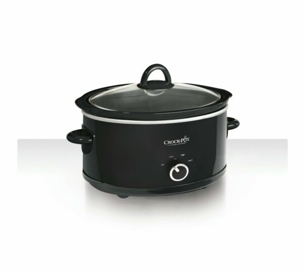 Crock Pot 7 Quart Manual Slow Cooker Black