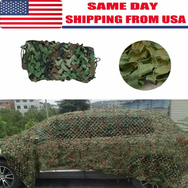 Woodland Shooting Hide Army Camouflage Net Hunting Cover Camo Netting 16X10 FT..