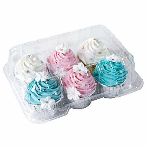Clear Cupcake Boxes 6 Cavity Holder Large 6 Compartment Muffin Containers Plast