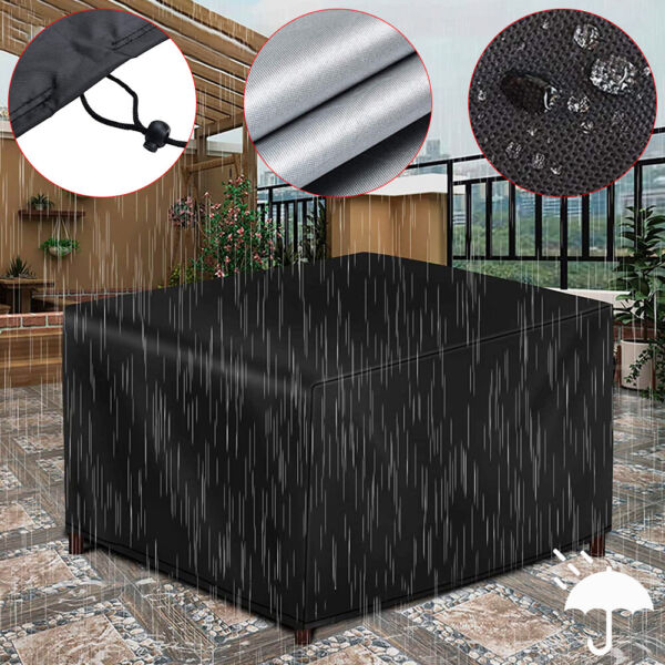 Waterproof Dustproof Patio Furniture Covers Rectangle Table Rain Cover Outdoor $24.68