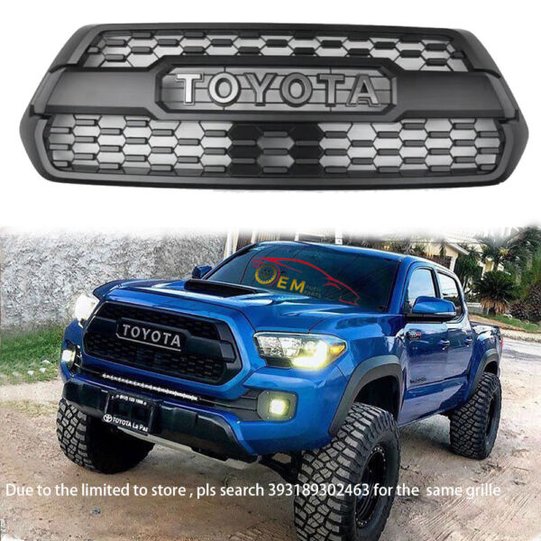 Grille for 2016 Toyota Tacoma fit 2017 2018 2019 2020 Front Bumper with letter