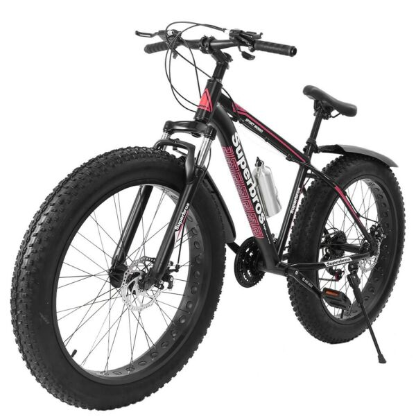 26 inch 4quot;W Fat Tire Mountain Bike 21 Speed Bicycle High Tensile Steel Frame US $268.99