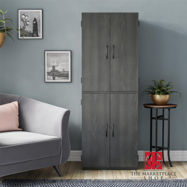 Tall Storage Cabinet Kitchen Pantry Cupboard Organizer Furniture 4 Doors Shelves $137.95