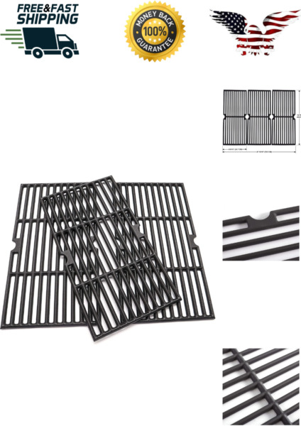 3Pcs Heavy Duty Grill Grates for Charbroil 463436215 463436214 Barbecue Tools