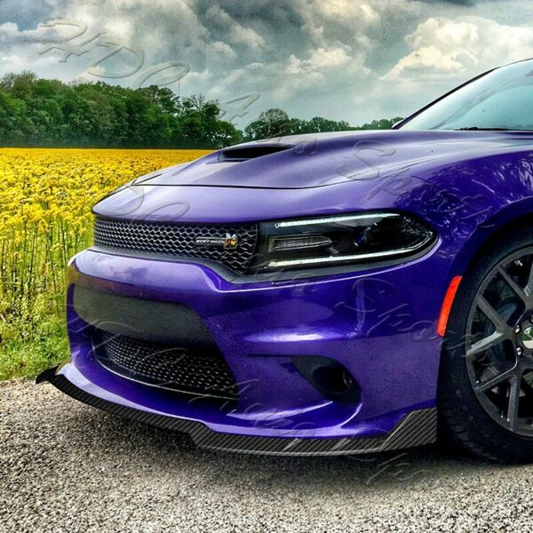 For 15 21 Dodge Charger RA Style Carbon Look Front Bumper Splitter Spoiler Lip $81.99