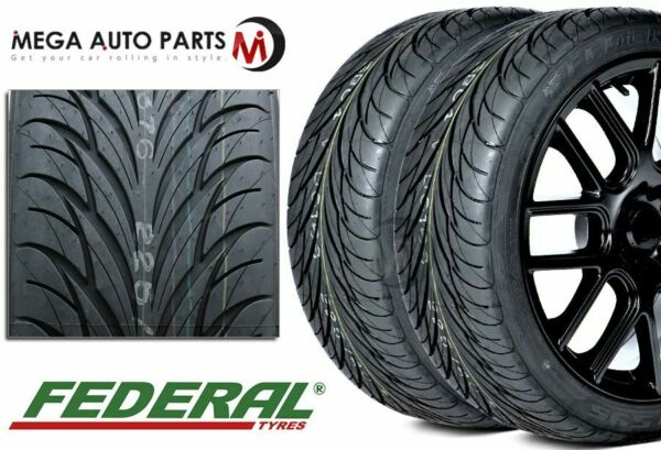 2 Federal SS595 SS 595 255 40R17 Tires Performance All Season UHP New